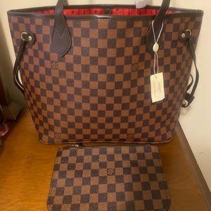 Brand New Louis Vuitton Neverfull MM Damier Ebène